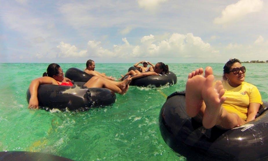 Island Tubing in Caye Caulker, Belize