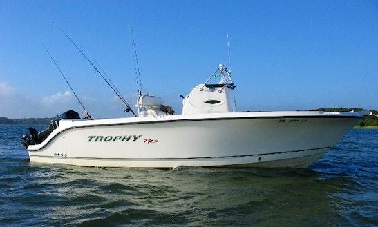 22ft Trophy Center Console Boat Fishing Charter In Framingham, Massachusetts