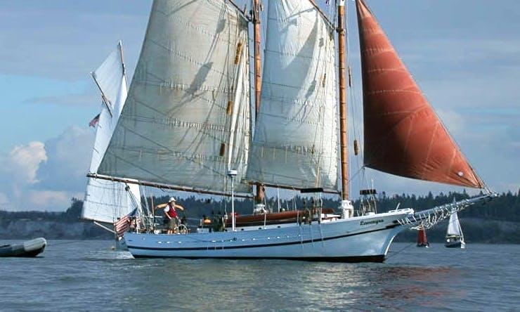 "Captained Charter On 63ft ""Lavengro"" Schooner In Seattle, Washington"
