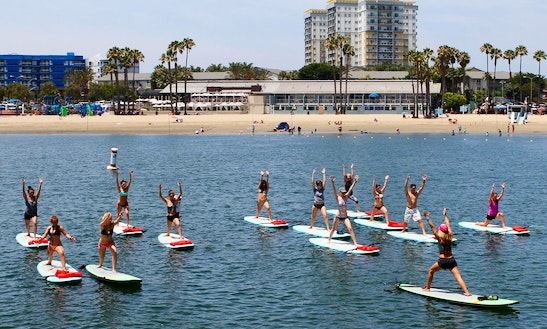 Sup Yoga Lessons With Yogaqua In Marina Del Rey
