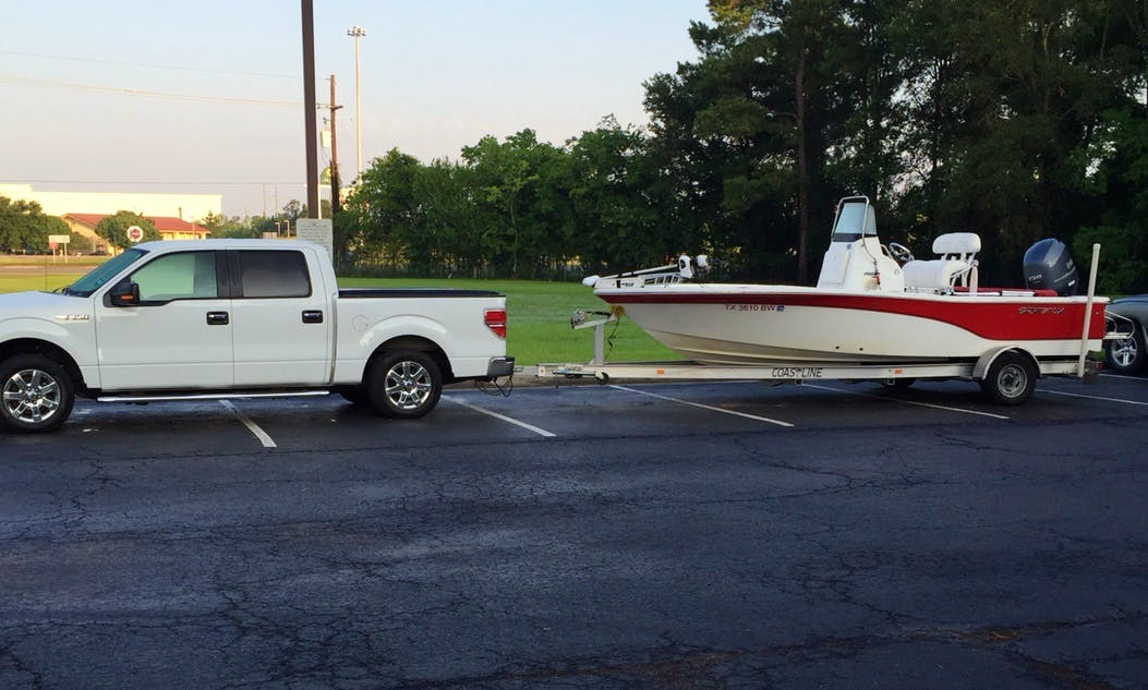 20ft Seafox Boat Center Console Rental in Conroe or Galveston, Texas