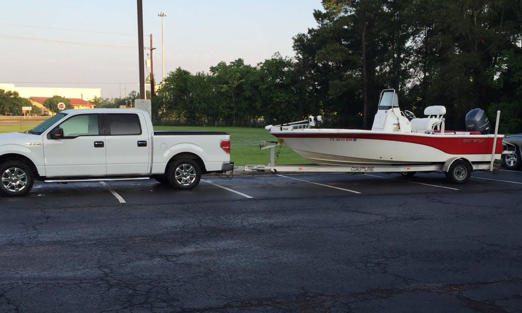 20ft Seafox Boat Center Console Rental in Conroe or Galveston, Texas