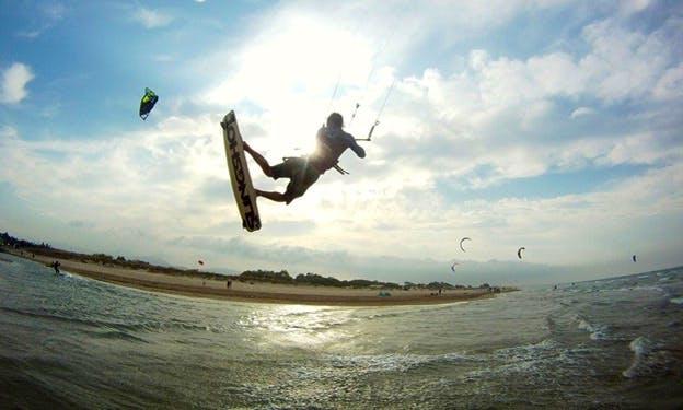 Kitesurfing in Denia, Spain