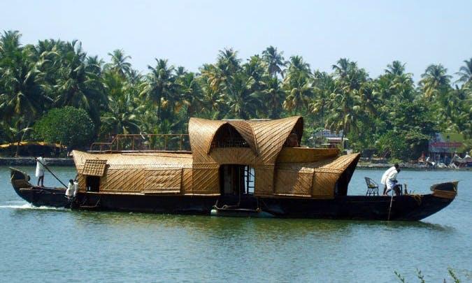 Beautiful Kerala 2-Bedroom Houseboat For Rent