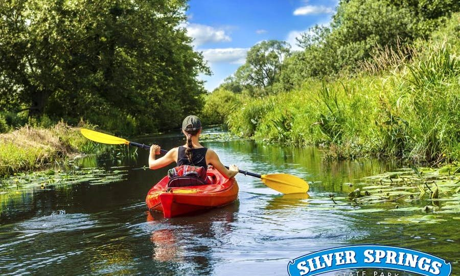Single Kayak Rental in Silver Springs, Florida
