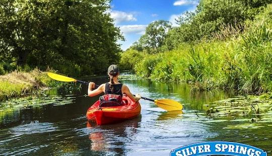 Single Kayak Rental In Silver Springs, Florida