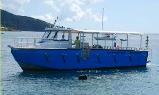 Dive Boat In Guadeloupe