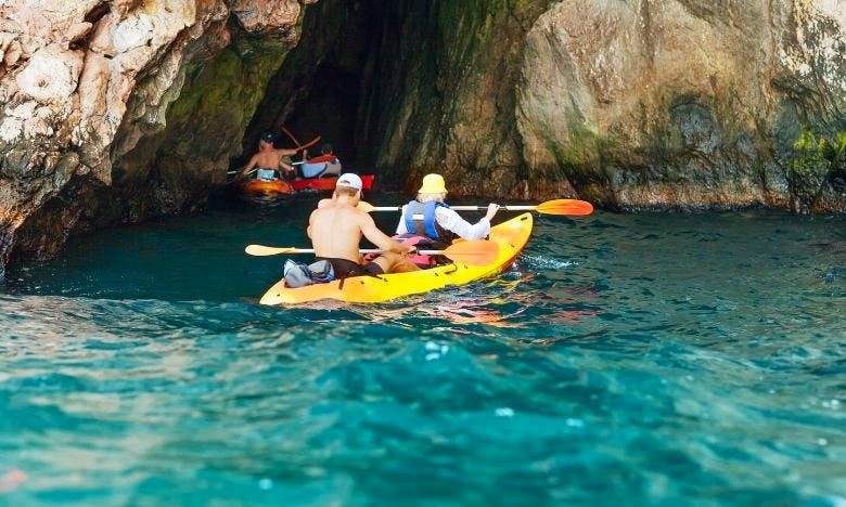 Rent a Tandem Kayak and Paddle the Moraira Bay from Teulada
