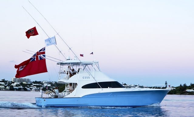"Bermuda Fishing Charter on 56ft ""Mako"" Custom Carolina Yacht with Captain Allen"