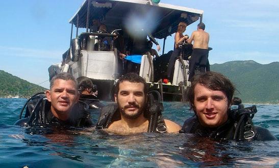 Scuba Diving On Trawler Boat In Rio De Janeiro, Brazil