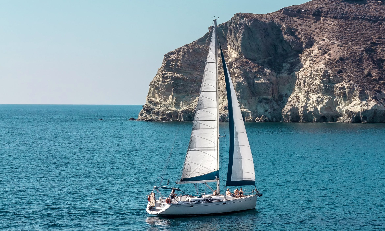 "Sailing Charter On 49ft ""Barca"" Cruising Monohull In Santorini, Greece"