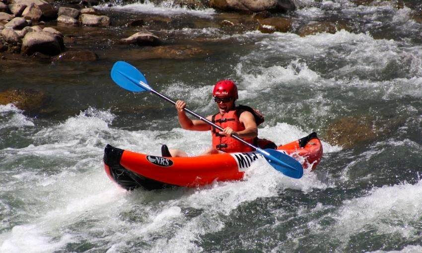 Inflatable Single Kayak Rafting Trips in Harpers Ferry