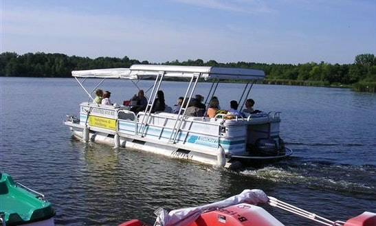 'fortuna' Pontoon Boat Charter In Heidesee