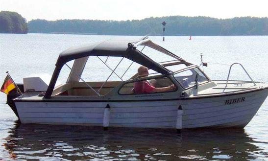 'biber' Deck Boat Hire In Heidesee