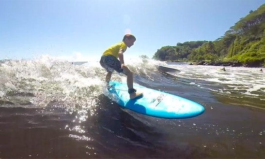 Learn To Surf In Puna'auia