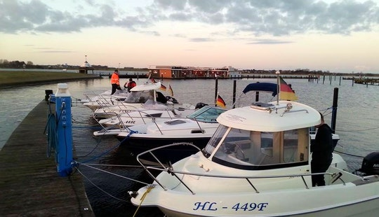 Rent Quicksilver 500 Pilothouse Boat In Fehmarn