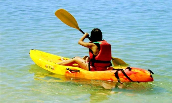 Paddle a Single Kayak and Explore Le Barcarès in France