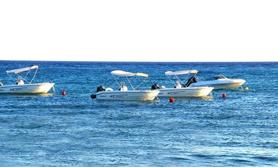 Center Console Motor Boat Hire In Rodos