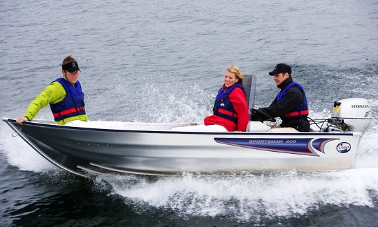 Rent Linder 400 Sportman Powerboat In Aakirkeby