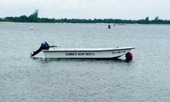 16ft Tiller Boat Rental In Barnegat Light, New Jersey
