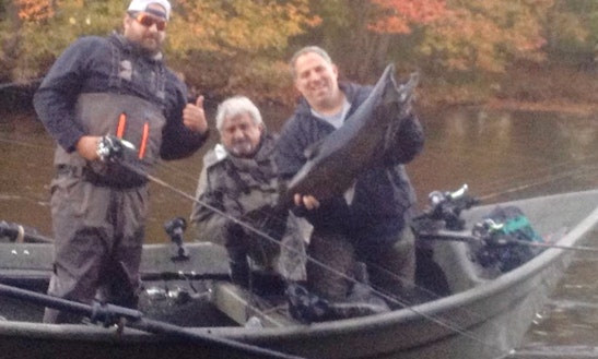 Enjoy Fishing On 17' Driftboat In Richland, New York