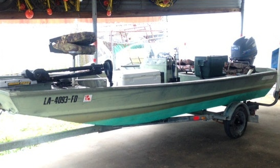 16' Jon Boat In Lake Pontchartrain, New Orleans United States