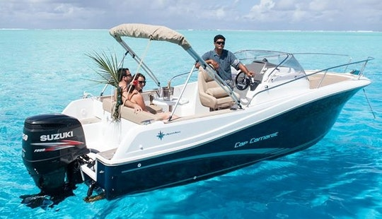 23' Deck Boat Trips In Vaitape, French Polynesia
