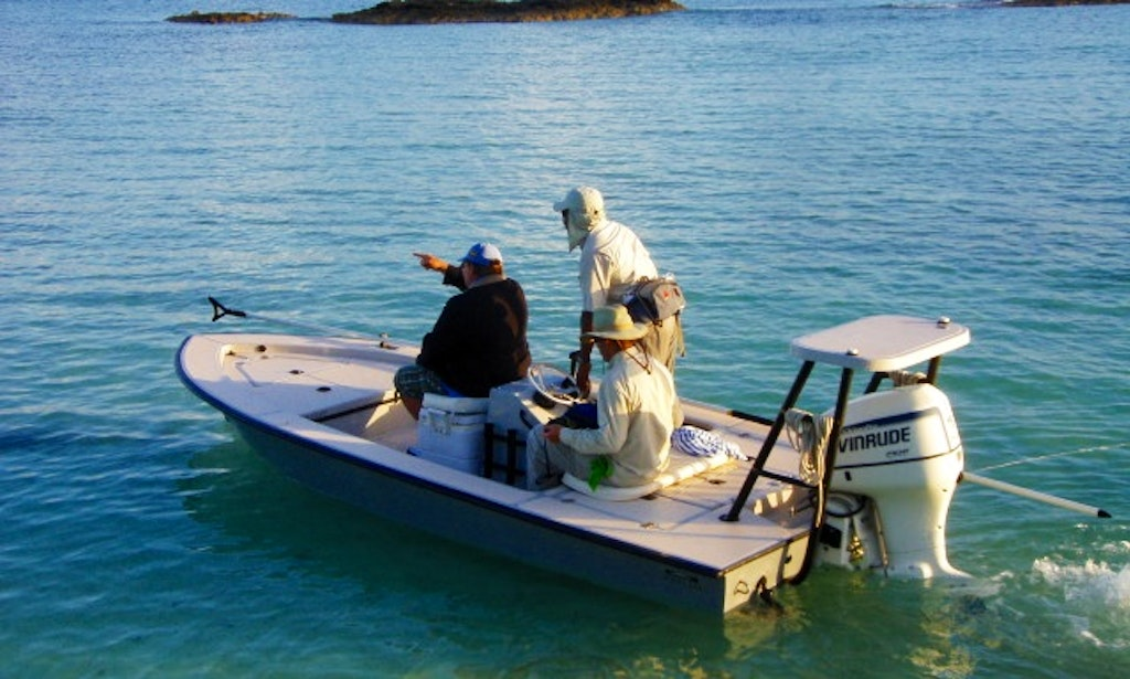 Enjoy 15 ft flats fishing boat trips in nassau new for Nassau fishing charters