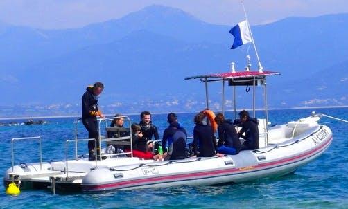 "24' RIB ""Le Mahue"" Diving Trips in Ajaccio, France"