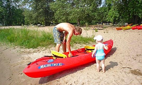 Tandem Kayak Rental On Lake Macatawa