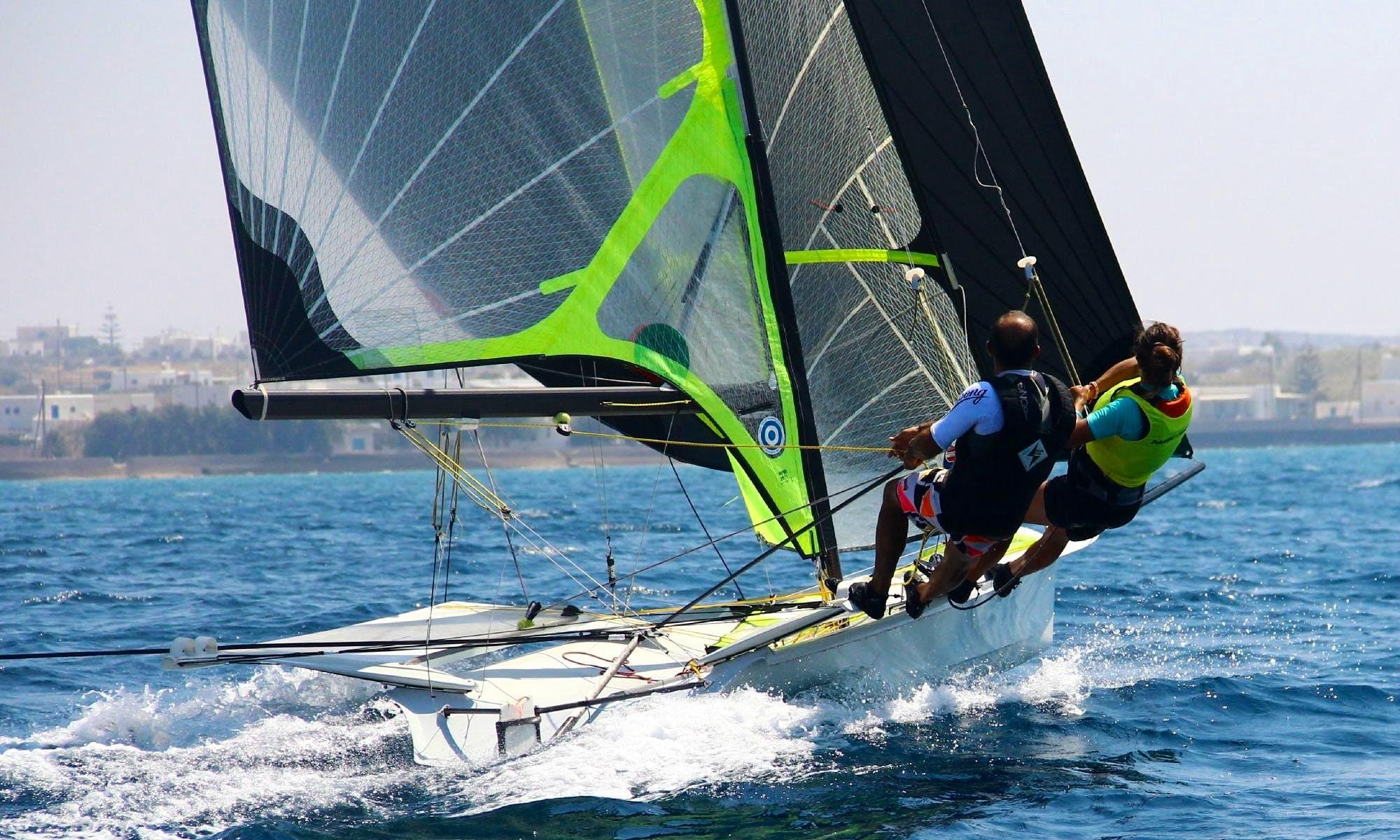 Skiff Private Sailing Lessons in Paros - Naoussa Sailing Team
