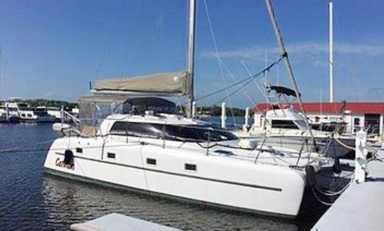 35' Victory Cruising Catamaran Charter In Key Biscayne