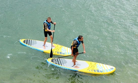 Stand Up Paddle (sup) Experience In Sauzon, France