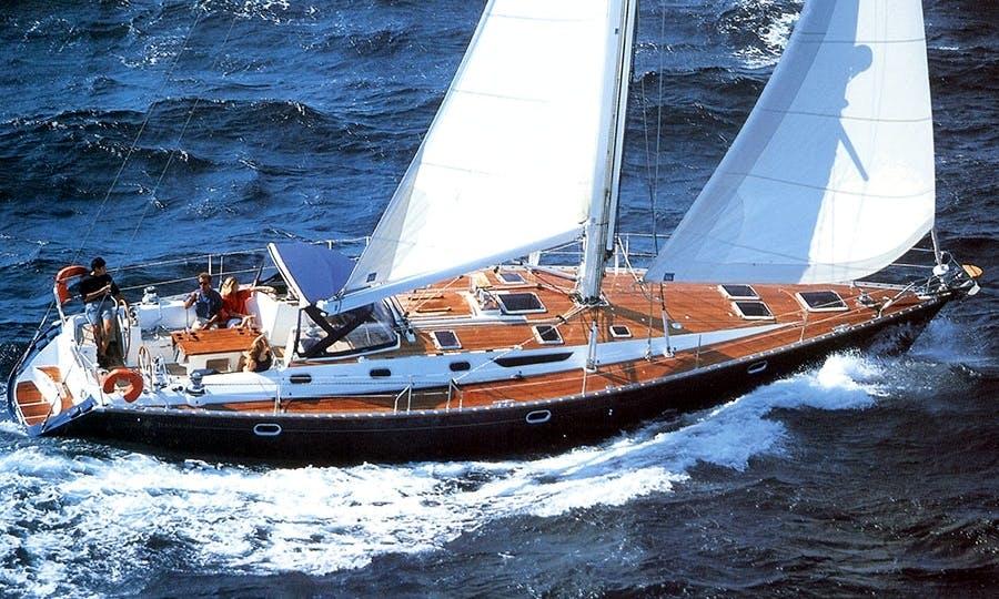 "SUN ODYSSEY 52.2 Sailing Mega Yacht ""Santa Maria"" Trips in Santorini, Greece"