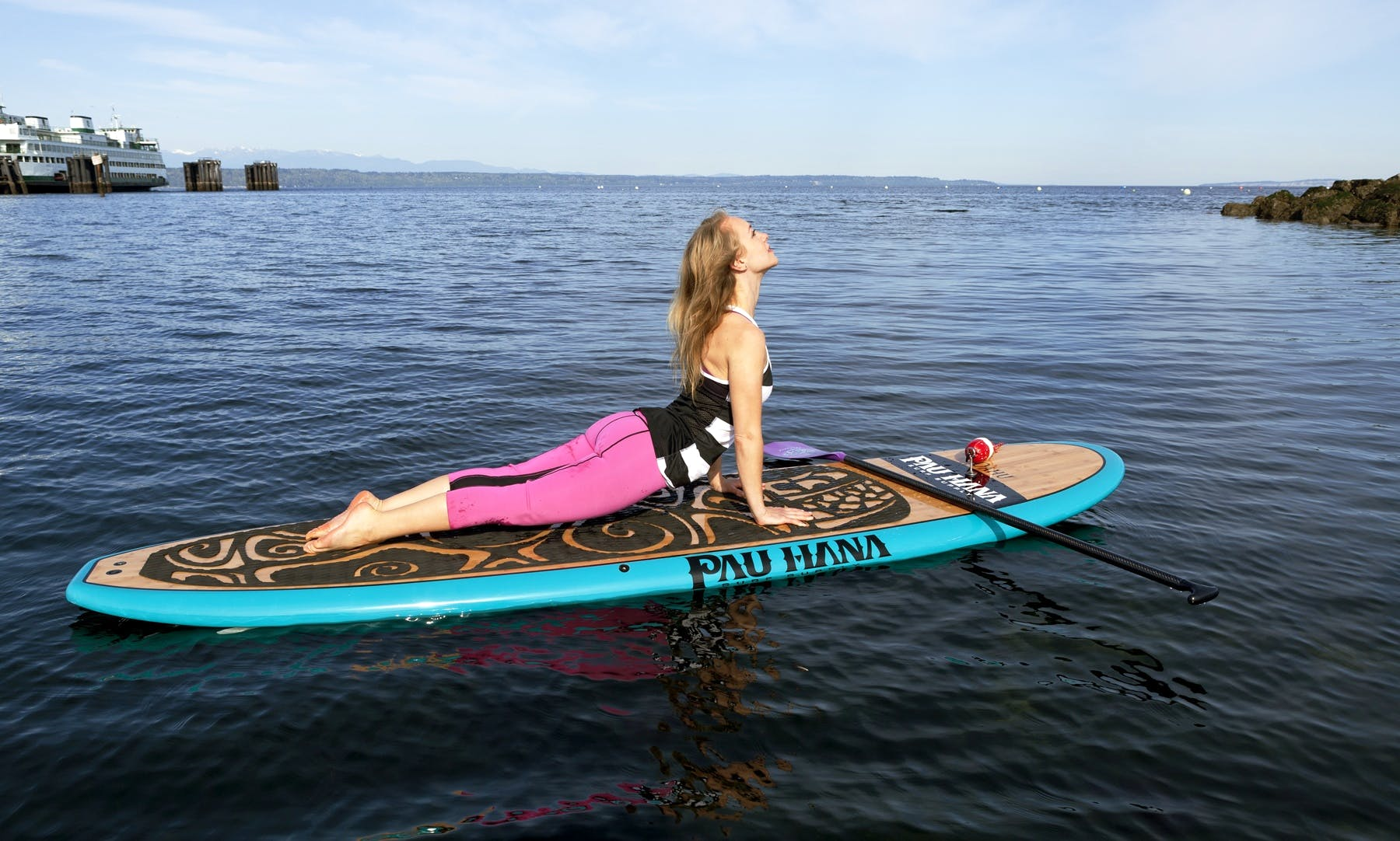 Paddleboard Yoga Session in Everett, Washington