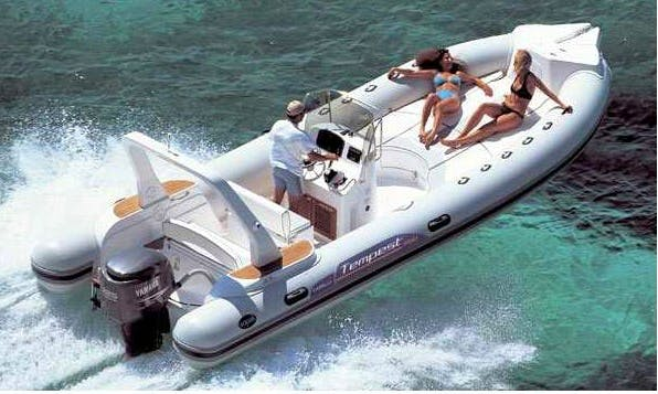 Rent 25' Capelli Tempest 750 RIB with Bimini Top in Palma, Spain