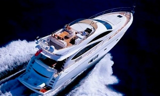 Luxury Crewed Sunseeker Manhattan 73ft. In The Bvi