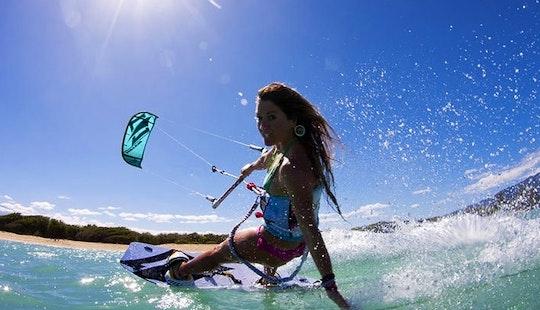 Kiteboarding In Sant Adria De Besos, Spain