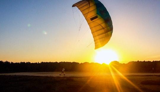 A Fun Kitesurfing Lesson In Figari, France!