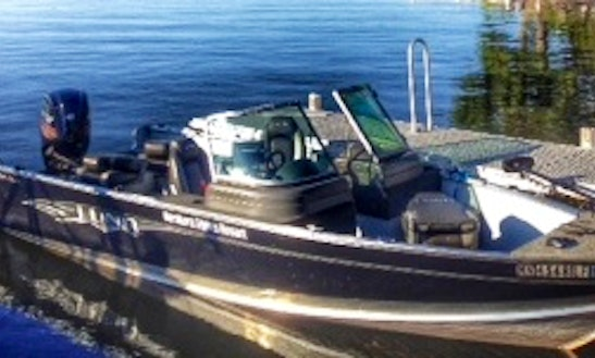 Rent 19' Lund Alaskan 90hp Motor Boat In Voyageurs National Park - Lake Kabetogama, Mn