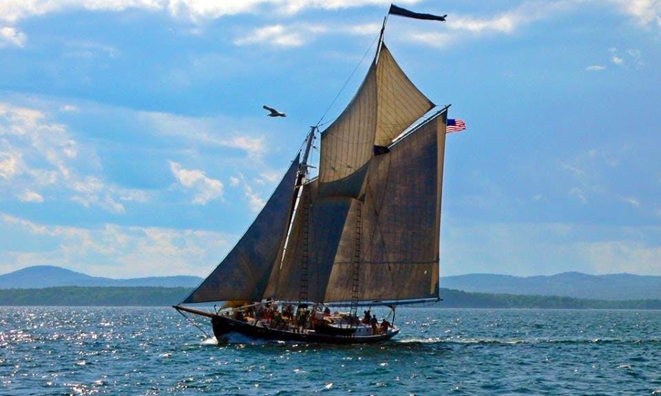 82 ft Classic Ocean Racing Schooner in Rockland, Maine