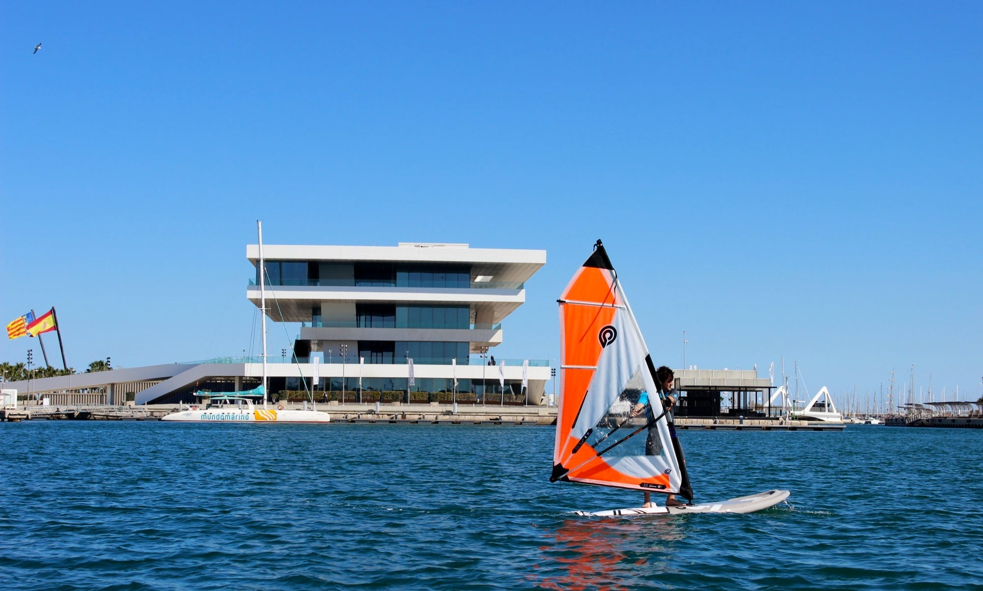 Windsurfing in Valencia, Spain