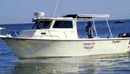 28' Xl Parker Pilot House Head Boat Fishing Trips In Cedar Key, Florida