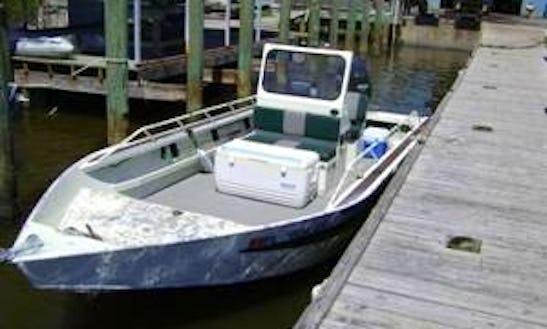 21' Bass Boat Fishing Trips In Cedar Key, Florida
