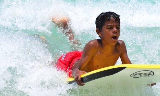 Boogie Boarding In Simpson Bay