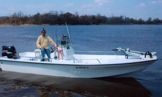 Guided Fishing Charter Onboard 21ft Seapro Boat In Harnett