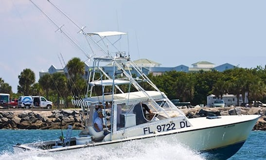 Full Day Fishing Aboard A 32' Stuart Angler Sportfisherman For 6 Person In Cape Canaveral, Florida