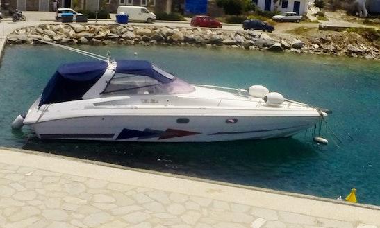Rent A 36' Tullio Speedboat For 8 Person In Paros