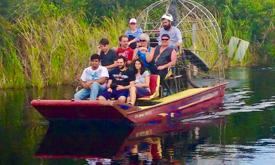 Airboat Eco Tour In Everglades, an exciting addition to any Florida vacation!