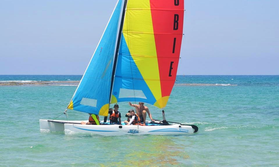 Sailing Catamaran in sdot yam